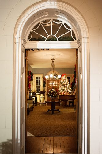 Entrance Hallway of Main House decorated for holidays